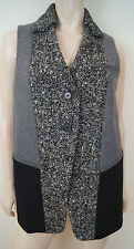 ANTONIO MARRAS Black & Grey Tweed Wool Alpaca Mohair Sleeveless Waistcoat Top 40