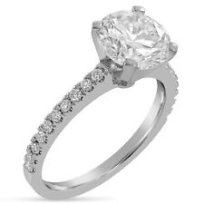 Round Forever One Moissanite With Diamonds Engagement Ring