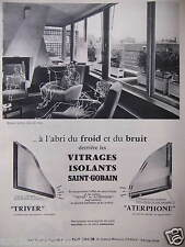 PUBLICITÉ 1959 VITRAGES ISOLANTS SAINT-GOBAIN TRIVER ATERPHONE - ADVERTISING