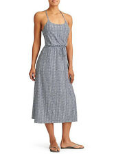 Athleta 10 Nwt Fog Grey & Navy Ariel Novella Maxi Dress M  10