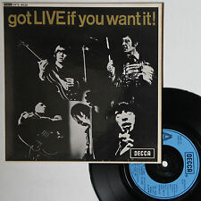 "Vinyle 45T Rolling Stones ""Got live (if you want it)"""