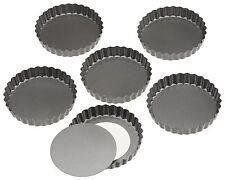"""Baking Mold Pans Nonstick Tart Mini Cake Pie Dessert Pastry Bakery 4.75"""" Set 6"""
