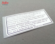 ENGINE OIL LEVEL DECAL, SILVER, 911, 964, 993 (1993 – 1998) porsche repro resto