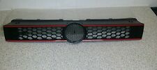 VW POLO 6R MK8 2009 - 2014 NEW FRONT GRILL WITH RED LINE GTI STILE