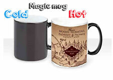 Harry Potter Marauder's Map Color Changing Magic black heat Coffee Mug