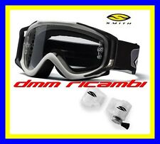 Occhiali Cross SMITH FUEL V2 Silver con Roll-Off casco lenti occhiale RollOff