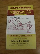 30/04/1966 Motherwell v Dundee  . Thanks for viewing our item, when listing we t