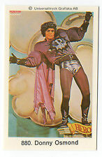 1970s Swedish Pop Star Card #880 US Heartthrob Teen Idol Singer Donny Osmond