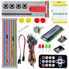 Raspberry Pi B+ 2/3 Starter Kit GPIO Pinboard 1602LCD Flat Cable Remote Control