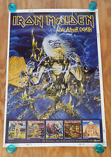 IRON MAIDEN - LIVE AFTER DEATH - ORIGINAL ROLLED ROCK PROMO POSTER (1986)