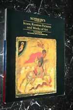 SOTHEBY'S ICONS RUSSIAN PICTURES AND WORKS OF ART   CATALOGUE