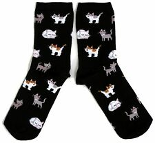 LADIES BLACK KITTEN KITTENS CATS EVERYWHERE SOCKS UK 4-8 EUR 37-42 USA 6-10