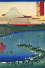 3 japanese woodblock reproduction antique mont fuji prints ando by hiroshige