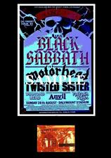Black Sabbath concert poster+ticket Dalymount Football Stadium Dublin 1983 repro