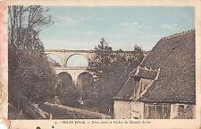 BF9278 culan cher pont route et viaduc du chemin de fer france      France