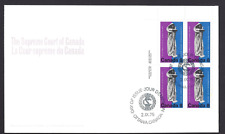 Canada  FDC  # 669  Supreme Court Centenary    1975 ULpb   New Fresh Unaddressed