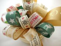 10MM - 25MM CHRISTMAS THEME RIBBON BUNDLE 8 X 1MTR BY BERISFORDS