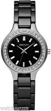 Dkny Black Ceramic Watch Ladies NY4980