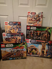 LEGO Star Wars Tatooine Lot JABBA'S PALACE BARGE RANCOR PIT LUKE SPEEDER SKIFF