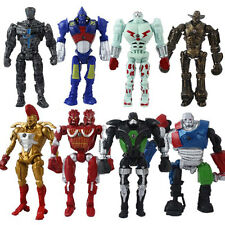 8x Real Steel Movie Atom Noisy Boy Midas Twin Cities Zeus PVC Action Figure