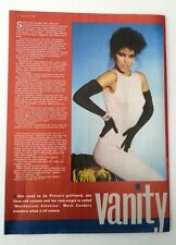 VANITY (PRINCE) 'black gloves' UK Photo /ARTICLE/clipping
