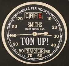 Ton Up Woven Iron on Patch, Cafe Racers, Smiths Speedo, England, Motorcycles