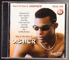 SING IN THE STYLE OF USHER - 10 COMPLETE VERSIONS/ 10 BACKGROUND TRACKS - NEW CD