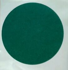 "19cm 7 1/2"" GREEN FELT BAIZE round DISC discs self adhesive protect craft cover"