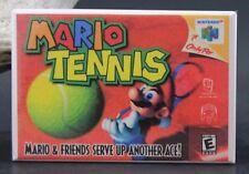 Mario Tennis Nintendo N64 Video Game Box - Fridge / Locker Magnet.