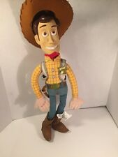 "Disney Store Exclusive Woody Toy Story Plush Doll W/ Hat  18"" Free Shipping"