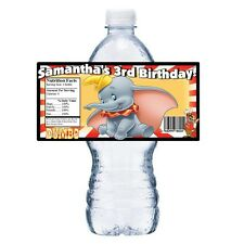 20 DISNEY DUMBO PERSONALIZED BIRTHDAY PARTY FAVORS WATER BOTTLE LABELS