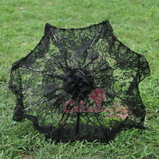 Black Deluxe Bridal Lace Parasol Wedding Umbrella Bridal Accessories
