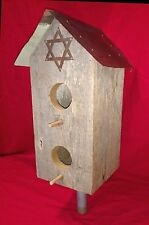 Jewish synagogue antique copper roof piece Star of David weathered wood bird hou