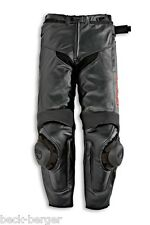 DUCATI Dainese Speed'10 Lederhose PANTALONI LEATHER PANTS NERO NUOVO!!!