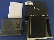 teemzone Men Soft Leather Black Casual Clutch Wallet Checkbook Organizer NWT