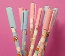 Rilakkuma Gel Pen 2PCS Set Pink & Blue - Kawaii Black Ink 0.5 mm - B