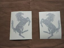 Ducati, Ferrari BLACK  CAVALINO RAMPANTI DECALS, RIGHT AND LEFT SIDE