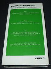 VHS Video Opel Umweltinitiativen TV Spots von 1989 / 1991 / 1993 bis heute 11/93