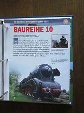 Deutsche Eisenbahngeschichte DB 1949-1993 Datenblatt: BR 10 Schwarzer Schwan
