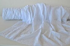 "White on White Eyelet Lawn 100% Cotton Mock Embroidery 57"" Wide Fabric BTY"