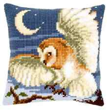 Night Owl Large Holed Printed Tapestry Canvas Cushion Kit - Chunky Cross Stitch