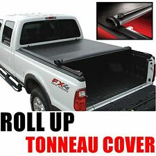 "Black Friday Sales Lock Roll Up Soft Tonneau Cover 04-13 Ford F150 6.5FT 78"" Bed"