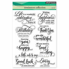 New Penny Black SENTIMENT COLLECTION Clear Stamps Verse Love Birthday Happy