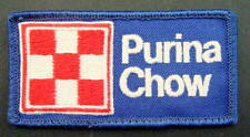 """PURINA CHOW EMBROIDERED SEW ON PATCH ANIMAL FEED GRAIN LOGO FLAG 3 7/8"""" x 2"""""""