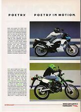 Kawasaki AR125, KMX125 classic period motorcycle advert 1987
