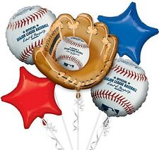 ☆SPORTS,BASEBALL-ANAGRAM-BALLOONS-BOUQUET-MYLARS-PACKAGED-QUANTITY=1 PACKAGE-NR☆