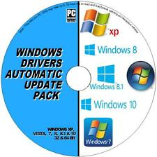 DRIVERS UPDATES PACK DVD WINDOWS XP VISTA 7 8 10 INSTALL & UPDATE ALL PC/LAPTOPS