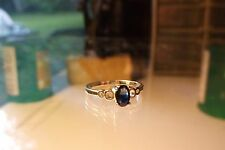 .60 carat 2 tone natural sapphire and sterling silver sz. 7 ring