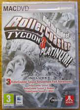 Rollercoaster Roller Coaster Tycoon Platinum! Amusement Park Sim NEW retail pack