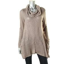 Cupio 6518 Womens Beige Funnel Neck Long Sleeves Pullover Sweater Top XL BHFO